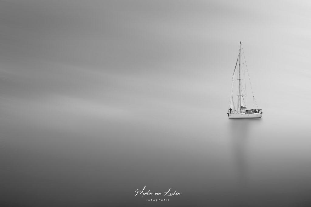 Zeilboot op de Noordzee